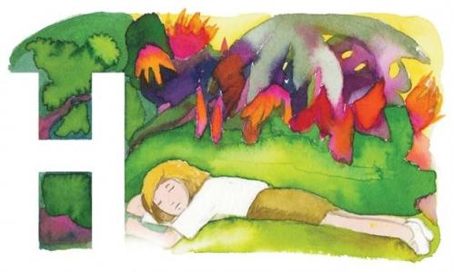 "<h5>ilustracja do ""Książki o Hani"" Wandy Ottenbreit</h5>"