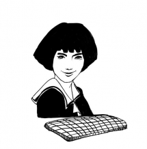 """<h5>Ilustracja do książki """"Całuski pani Darling"""". Rozdział: """"Ciągutki Agaty Abbott"""".</h5>"""