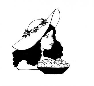 """<h5>Ilustracja do książki """"Całuski pani Darling"""". Rozdział: """"Ciasteczka Angeliki"""".</h5>"""