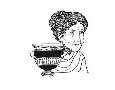 """<h5>Ilustracja do książki """"Całuski pani Darling"""". Rozdział: """"Zupa jarzynowa Baucis"""". </h5>"""