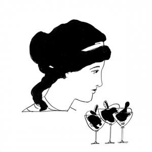 """<h5>Ilustracja do książki """"Całuski pani Darling"""". Rozdział: """"Gruszki Piękna Helena"""".</h5>"""