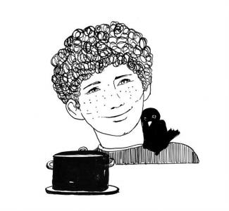 """<h5>Ilustracja do książki """"Całuski pani Darling"""". Rozdział: """"Chłodnik Dicka"""".</h5>"""
