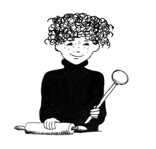<h5>Ilustracja do książki &quot;Całuski pani Darling&quot;. </h5>