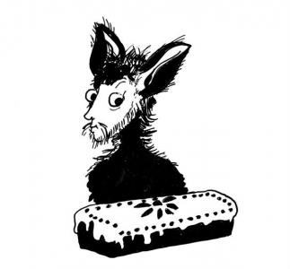 """<h5>Ilustracja do książki """"Całuski pani Darling"""". Rozdział: """"Pięcioro dzieci i keks"""".</h5>"""