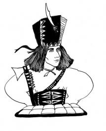 """<h5>Ilustracja do książki """"Całuski pani Darling"""". Rozdział: """"Placek zbójnika Janosika"""".</h5>"""