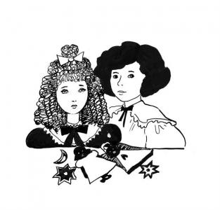 """<h5>Ilustracja do książki """"Całuski pani Darling"""". Rozdział: """"Pierniczki Freda i Klary"""".</h5>"""