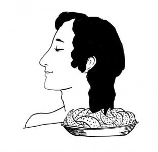 """<h5>Ilustracja do książki """"Całuski pani Darling"""". Rozdział: """"Ciasteczka Hypnos"""".</h5>"""
