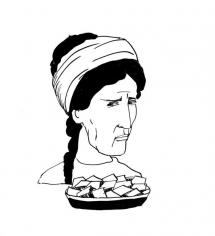 """<h5>Ilustracja do książki """"Całuski pani Darling"""". Rozdział: """"Ciastka Ksantypy"""".</h5>"""
