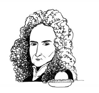 """<h5>Ilustracja do książki """"Całuski pani Darling"""". Rozdział: """"Jabłko a la Newton"""".</h5>"""