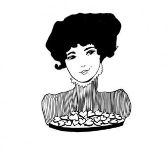 <h5>Ilustracja do książki &quot;Całuski pani Darling&quot;. Rozdział: &quot;Całuski pani Darling&quot;.</h5>