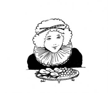 """<h5>Ilustracja do książki """"Całuski pani Darling"""". Rozdział: """"Gruszki panny Hedwigi"""".</h5>"""