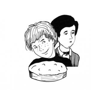 """<h5>Ilustracja do książki """"Całuski pani Darling"""". Rozdział: """"Południowiec dla Tomka i Sida"""".</h5>"""