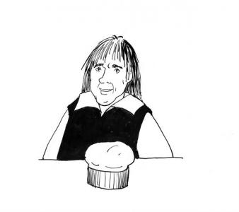 """<h5>Ilustracja do książki """"Całuski pani Darling"""". Rozdział: """"Pyszny suflet Wiórka"""".</h5>"""