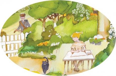 """<h5>ilustracja do książki Emilii Kiereś """"Srebrny dzwoneczek""""</h5>"""