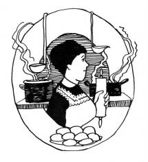 <h5>ilustracja do książki &quot;Łasuch literacki&quot;</h5>