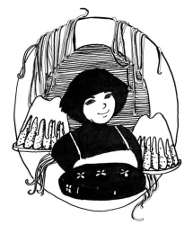 "<h5>ilustracja do książki ""Łasuch literacki""</h5>"
