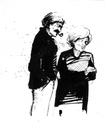 """<h5>ilustracja do książki """"Małomówny i rodzina""""</h5>"""