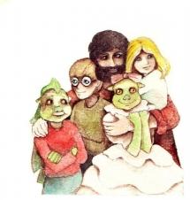 "<h5>ilustracja do książki ""Ble-ble""</h5>"