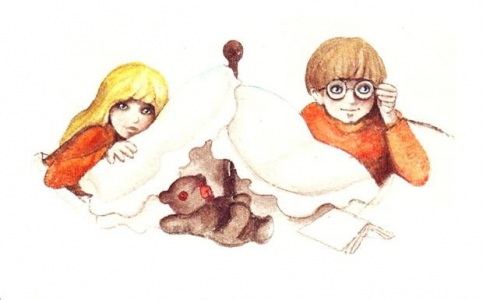 <h5>ilustracja do książki &quot;Ble-ble&quot;</h5>