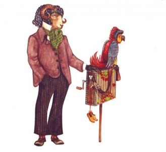 """<h5>ilustracja do książki Wojciecha Żukrowskiego """"Porwanie w Tiutiurlistanie""""</h5>"""