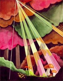 """<h5>ilustracja do książki Tadeusza Kraszewskiego """"W królestwie grzybów""""</h5>"""