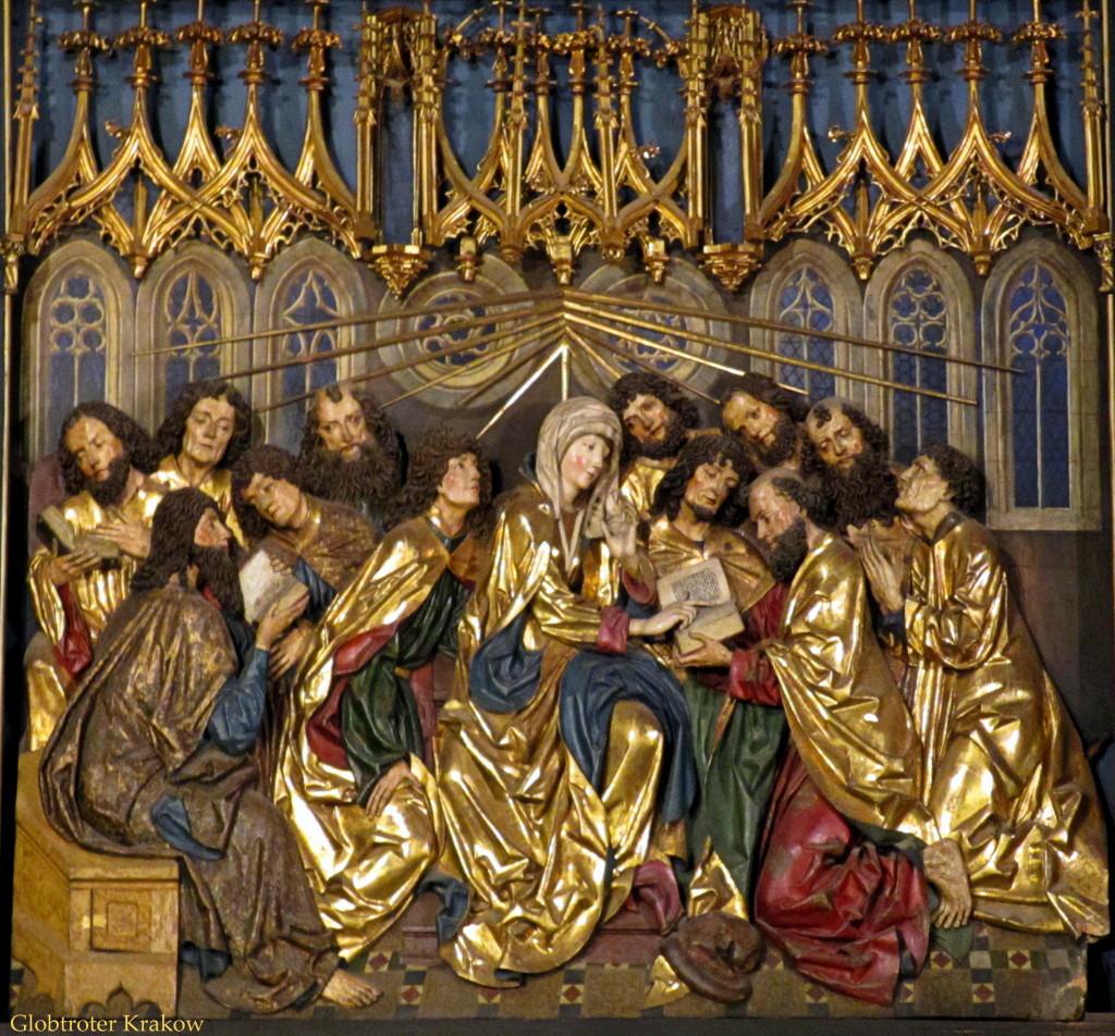 Mariacki-ołtarz-prawe-skrzydło-Zesłanie-Ducha-Świętego-1024x952