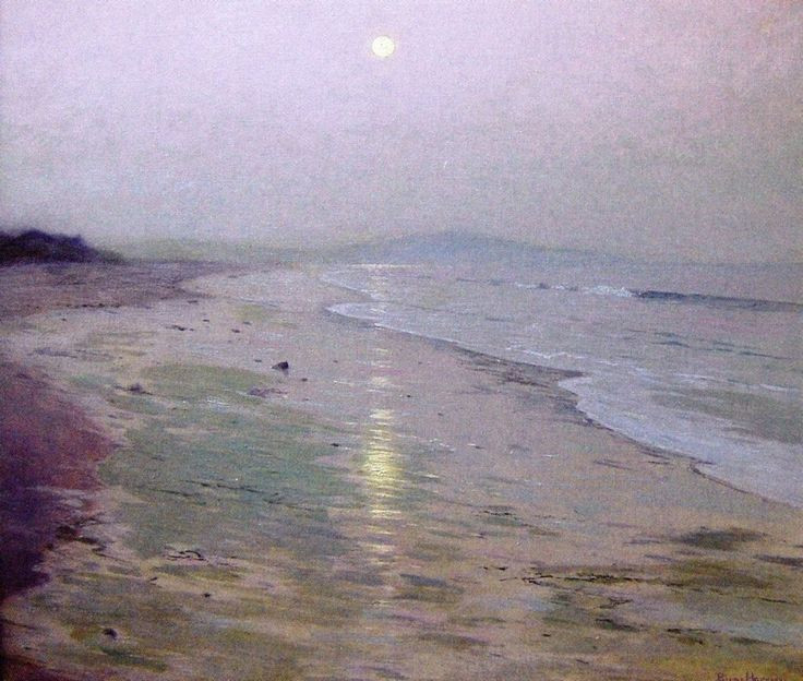lowell birge harrison moonrise over the beach