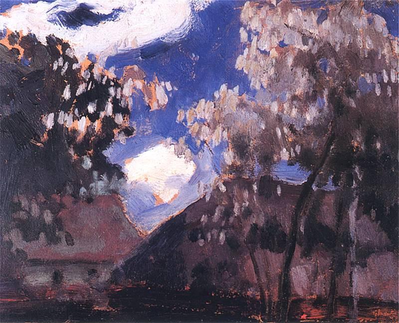 - (chaty przy księżycu) Jan Stanisławski