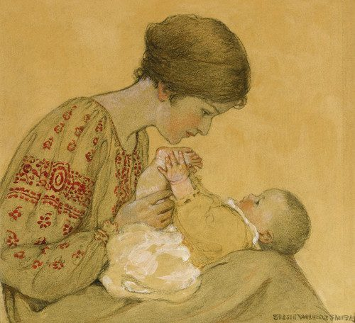 Jessie_Willcox_Smith_-_The_Newborn_16x20_ognadc__92893.1486481624