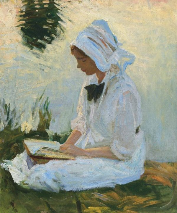 John-Singer-Sargent-Girl-reading-by-a-stream-1888